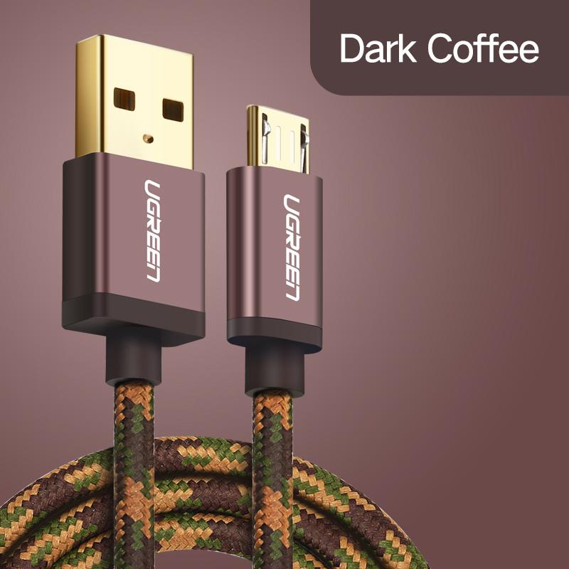 UGREEN КАБЕЛЬ USB MICRO-USB JEANS Dark Coffe