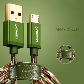 UGREEN КАБЕЛЬ USB MICRO-USB JEANS Green