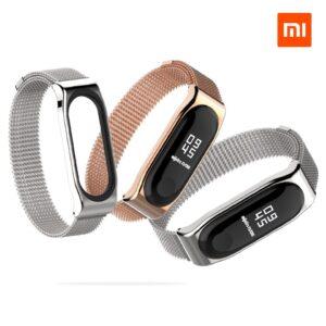 Металлический магнитный ремешок MiJobs для Mi Band 3